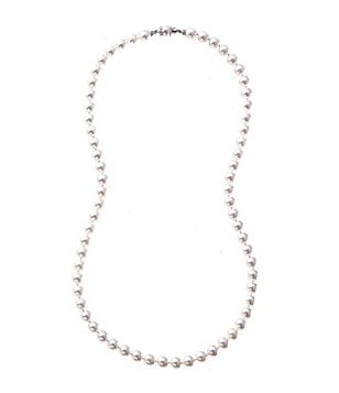 Nadri Pearl Hand-Knotted Pearl & Filigree Necklace