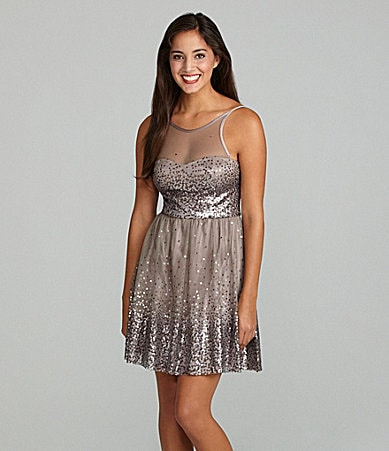 Jump Sequin Illusion Dress