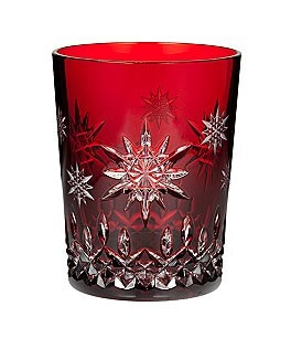 Waterford Snowflake Wishes For Joy Collection Premiere Edition Ruby Double Old-Fashioned Glass Image