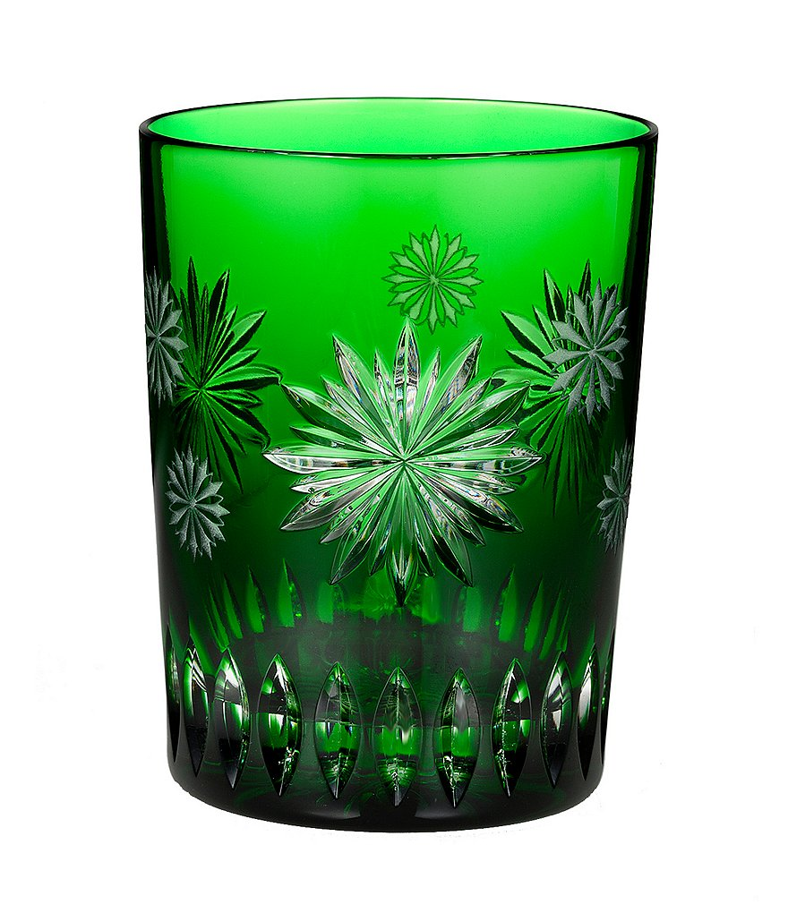 Waterford Snowflake Wishes Collection 2nd Edition Courage Emerald Double Old-Fashioned Glass