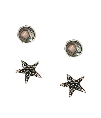 Lucky Brand Archipeligo Starfish Stud Earrings Set