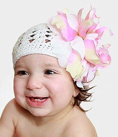 Jamie Rae Hats Newborn Crotchet-Knitted Flower Hat