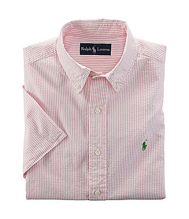 Polo Ralph Lauren Big & Tall Classic-Fit Seersucker Shirt