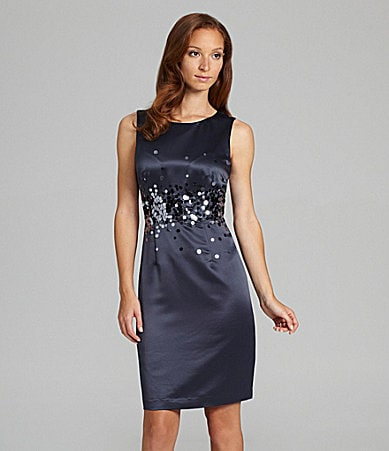 Calvin Klein Satin Paillette Dress