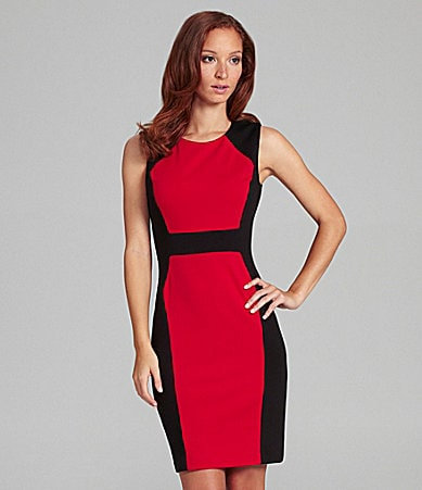Calvin Klein Colorblock Ponte Dress
