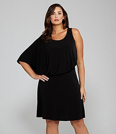 Jessica Simpson Woman Asymmetric Batwing-Sleeve Dress