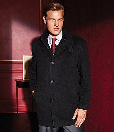 Daniel Cremieux Signature Westport Button-Front Wool Coat