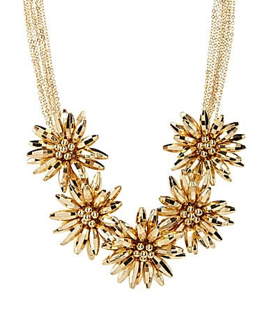 Natasha Accessories Flower Statement Necklace