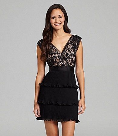 Max and Cleo Lillian Tiered Cocktail Dress