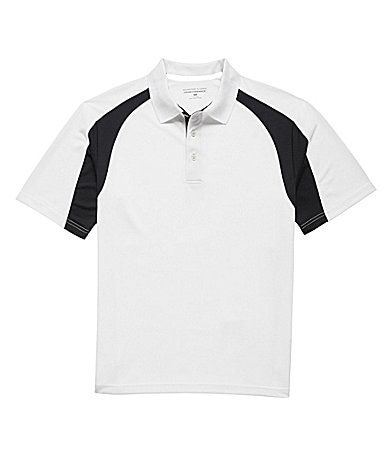 Roundtree & Yorke Big & Tall Performance Colorblock Polo Shirt