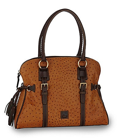 Dooney & Bourke Ostrich Domed Buckle Satchel