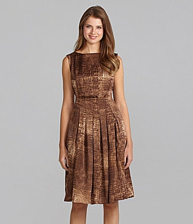 York Dress on Jones New York Collection Crocodile Print Pleated Dress   Dillards Com