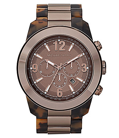 Michael Kors Men�s XL Runway Espresso Round Watch