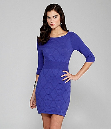 Gianni Bini Waverly Geometric-Knit Dress