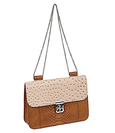 Big Buddha Bondi Embossed Shoulder Bag