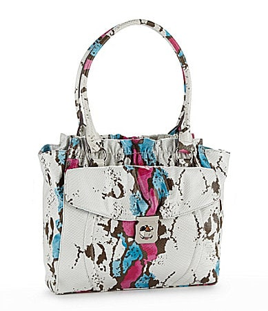 Kathy Van Zeeland Center of Attention Python Tote
