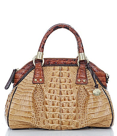 Brahmin Praline Tri-Color Collection Lisa Satchel