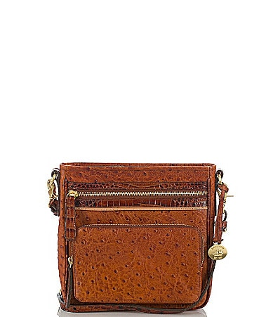 Brahmin Praline Tri-Color Collection Cleo Cross-Body Bag