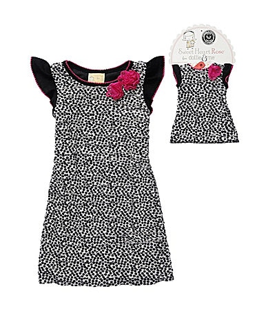Sweet Heart Rose for Dollie & Me 7-10 Dot Print Eyelash Mesh Dress