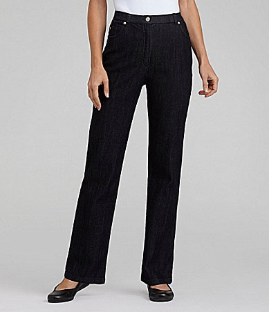 Allison Daley Petites Stretch Slim Straight-Leg Jeans