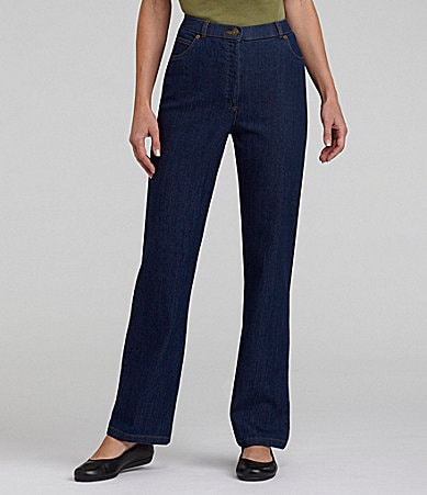 Allison Daley Stretch Slim Straight-Leg Jeans