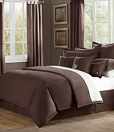 Cremieux Classic Twill Chocolate Bedding Collection