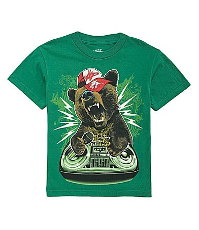 First Wave 8-20 Green Bear Hop Tee