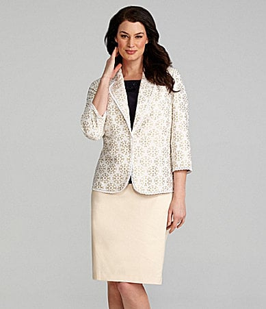 Alex Marie Woman Michaela Jacket, Carla Knit Top, & Zada Cotton Skirt