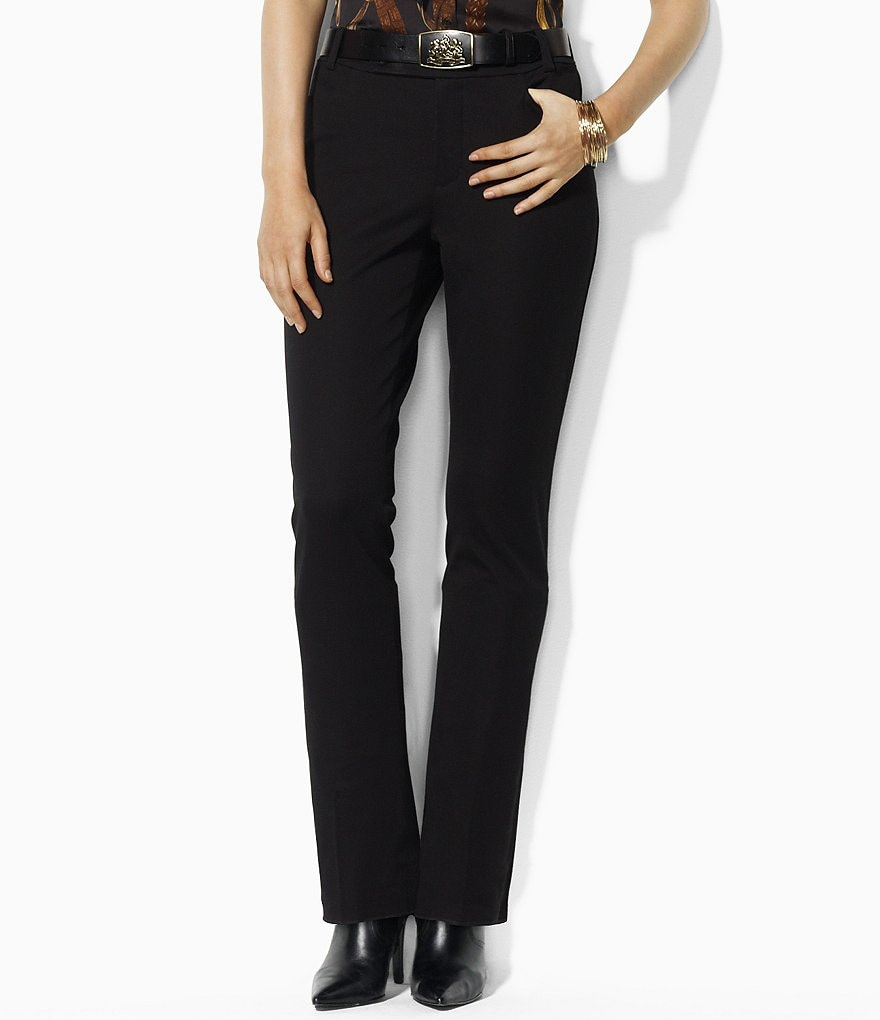 Lauren Ralph Lauren Cotton Twill Straight-Leg Pants