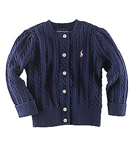 Ralph Lauren Childrenswear Baby Girls Cardigan Sweater Image