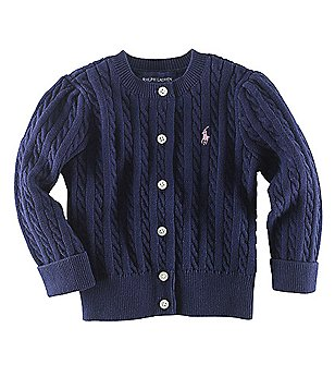 Ralph Lauren Childrenswear Baby Girls Cardigan Sweater