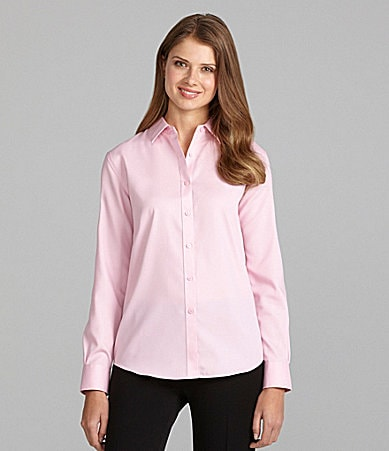 Jones New York Signature Long-Sleeve Button-Front Shirt