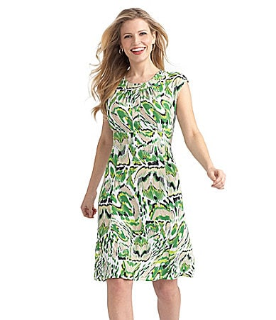 Preston & York Nadine Ikat-Print Knit Dress