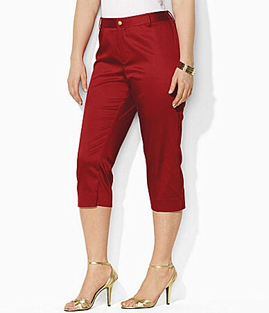 Lauren Ralph Lauren Woman Christelle Stretch Sateen Mid-Calf Pants