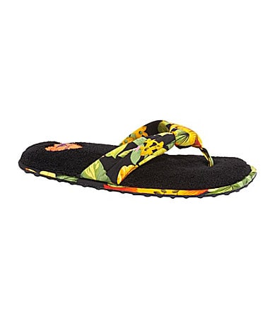 Rocket Dog Puff Tropical-Print Slippers