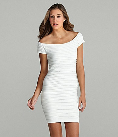 BCBGeneration Off-the-Shoulder Dress