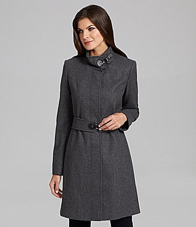 Preston & York Mandarin-Collar Walk Coat