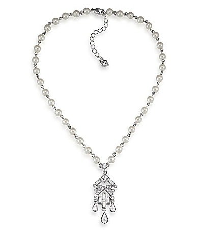 Carolee Classic Love Story Pearl Pendant Necklace
