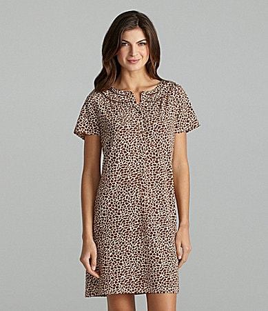 Nottibianche Animal-Print Sleep Shirt