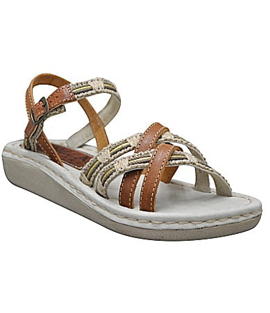 Sbicca Comfort Cottage Raffia-Detail Sandals