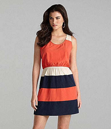Gianni Bini Julia Bold-Stripe Dress