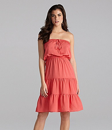 Gianni Bini Sabrina Strapless Tiered Dress