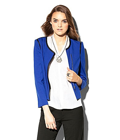 Vince Camuto Faux-Leather-Trim Jacket