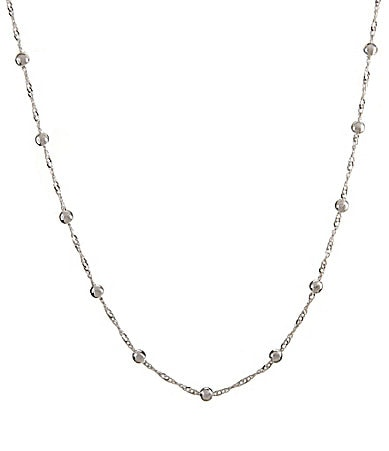 Dillard�s Tailored Long Ball & Chain Necklace