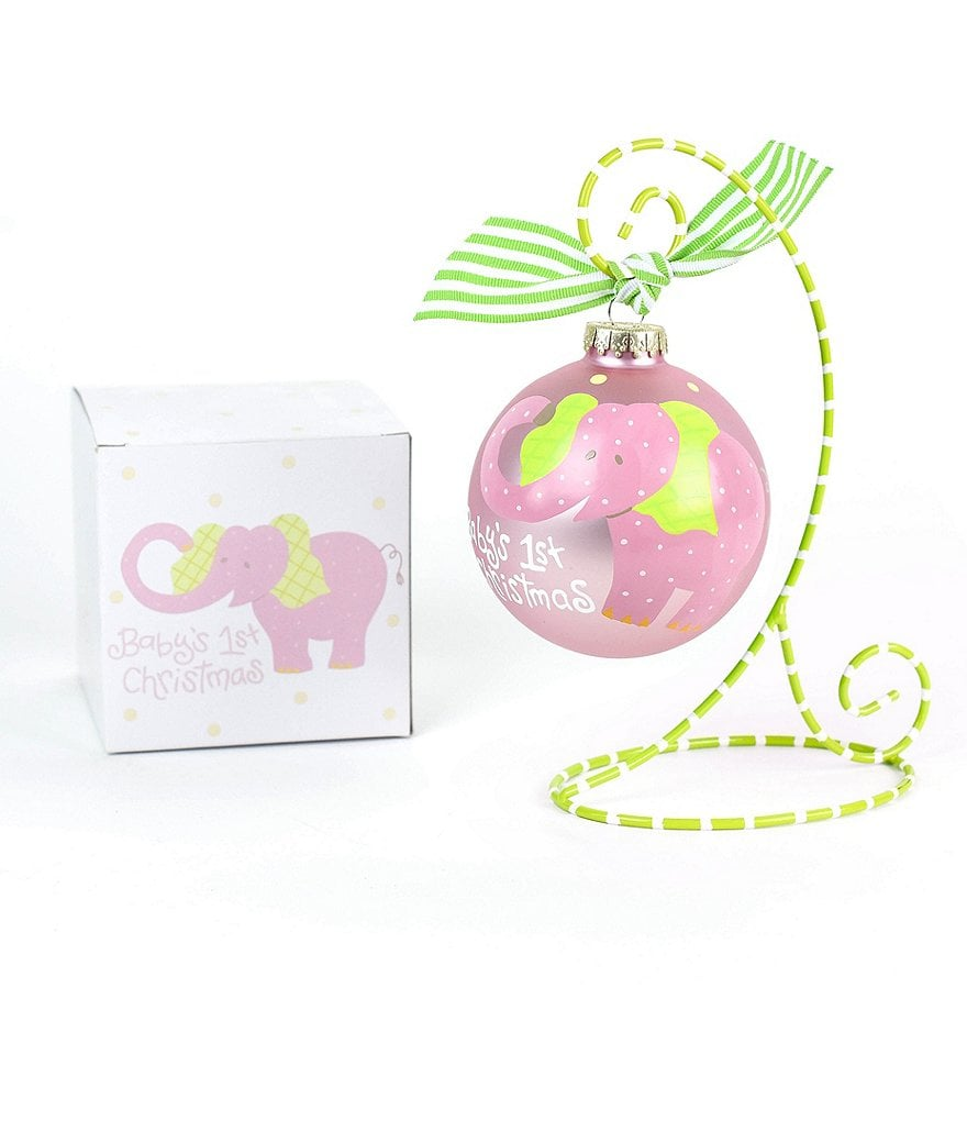 Coton Colors Baby´s First Christmas Elephant Girl Ornament