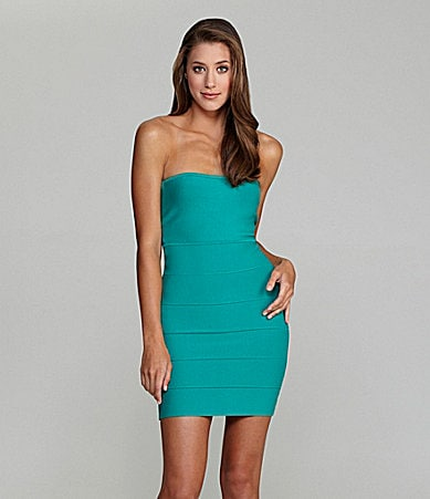 BCBGMAXAZRIA Alyona Strapless Bodycon Dress