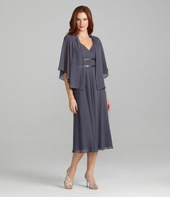 S.L. Fashions 2-Piece Chiffon Jacket Dress