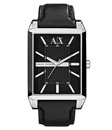Armani Exchange Men�s Black Leather Watch