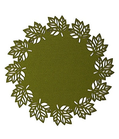 C & F Enterprises Felt Leaf Round Placemat