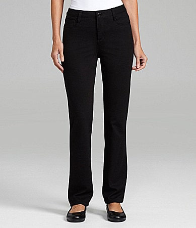 Jones New York Signature Lexington Straight-Leg Ponte Knit Pants